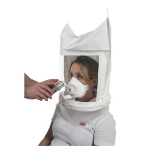 A face fit test hood