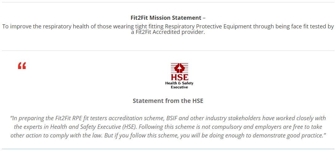 HSE Statement about Fit2Fit