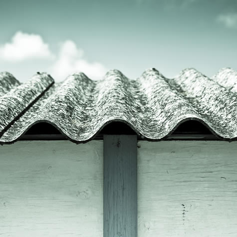 Corrugated asbestos roof sheets
