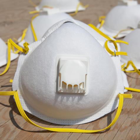 a disposable half-face mask